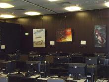Зал, где проходило тестирование Command & Conquer 4...