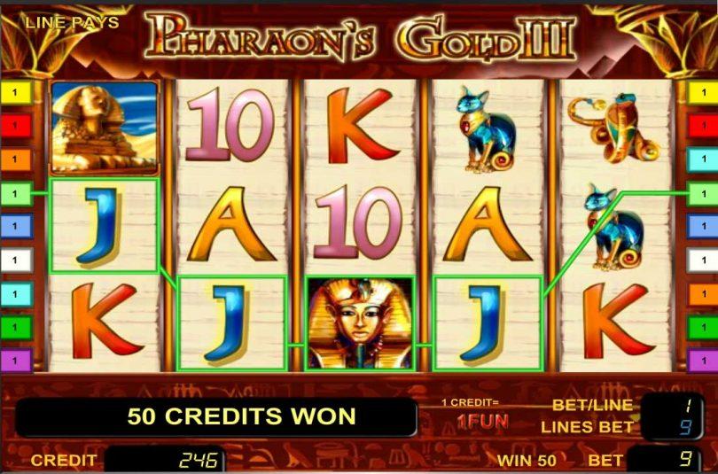 автомат онлайн игровой сокровища фараона